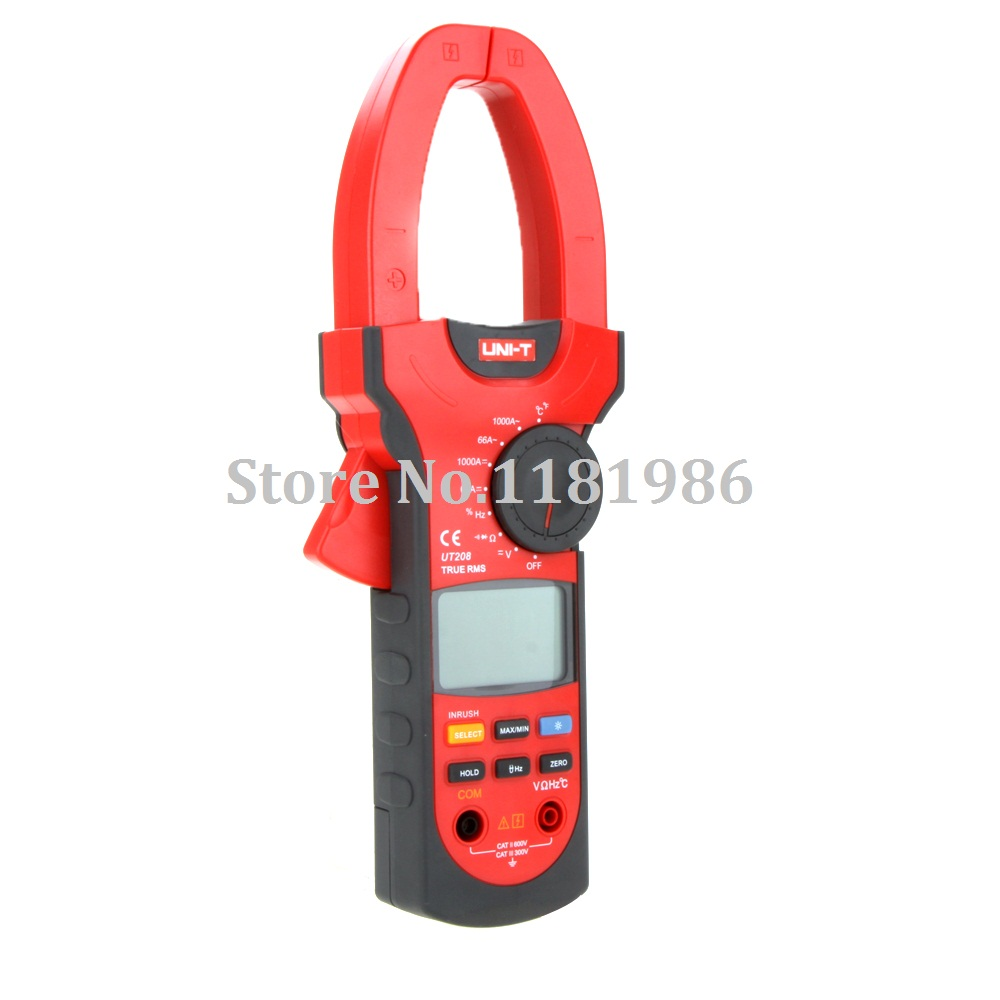 UNI-T UT208 UT-208 LCD True RMS 6600 Count Inrush Current Digital Clamp Meter Multimeter AC DC Voltage Amp Ohm Temp Tester  цены