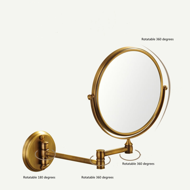 Magnification Circular Makeup Mirror Dual 2 Sided Round Shape Rotating Cosmetic Mirror Stand Magnifier Mirror Standing Mirror in Makeup Mirrors from Beauty Health