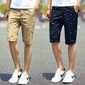 2016 новый бренд мужские шорты печати свободно облегающие мужские шорты мода шорты homme белый зеленый хаки шорты