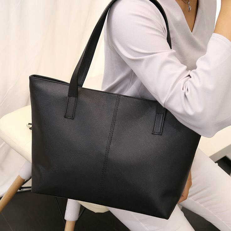 2017 Fashion New Tote Female bag High quality PU leather Women bag The Big Women's Shopping Bag Large Handbags Shoulder Bags 2018 new women bag ladies shoulder bag high quality pu leather ladies handbag large capacity tote big female shopping bag ll491