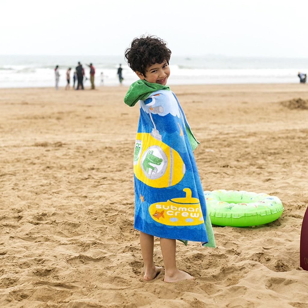 Toddler Hooded Beach Bath Towel Shark Soft Swim Pool
