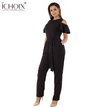 5XL 6XL Summer Plus Size Jumpsuit women 2018 Sexy Off Shoulder Big Size Romper Overall Large