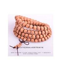 India Mysore Laoshan sandalwood Vintage 108 mascot prayer 6*8 apple beads buddha bracelet Jewellery accessories free shipping