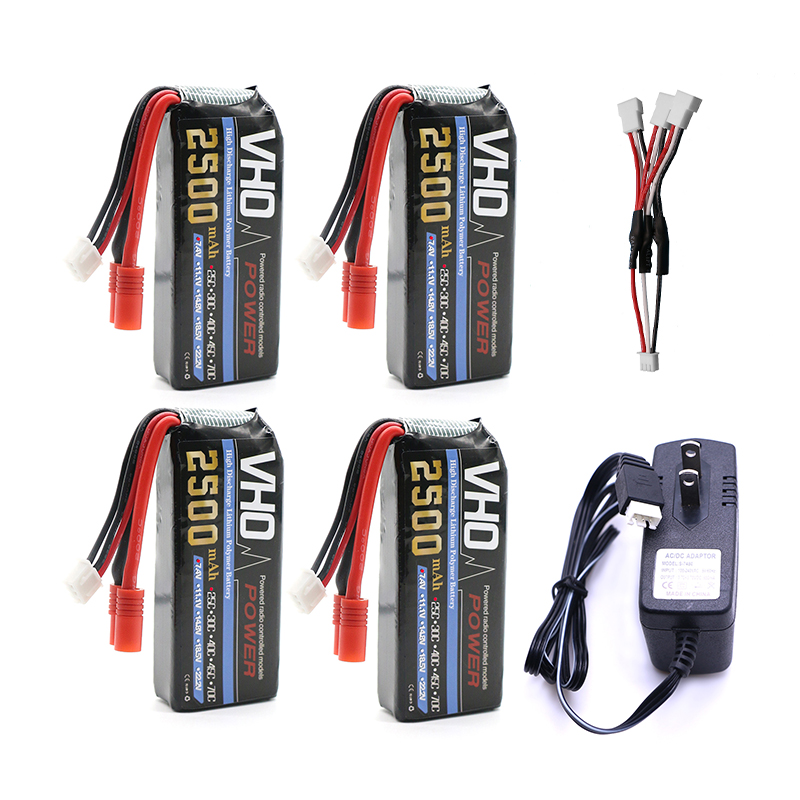 VHO Power Syma X8W RC Drone Lipo Battery 4pcs 2S 7.4v 2500mAh and UL charger For Syma X8C X8W X8G X8HG RC helicopter Spare Parts lipo battery 7 4v 2500mah for mjx f45 f645 t23 rc parts helicopter battery can add 3in1 charger f45 22 extra spare toys