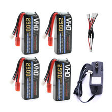 VHO Power Syma X8W RC Drone Lipo Battery 4pcs 2S 7.4v 2500mAh and UL charger For Syma X8C X8W X8G X8HG RC helicopter Spare Parts