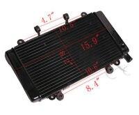 Radiator Cooler Cooling Guard Cover For HONDA CBR400 CBR 400 NC23 Black New