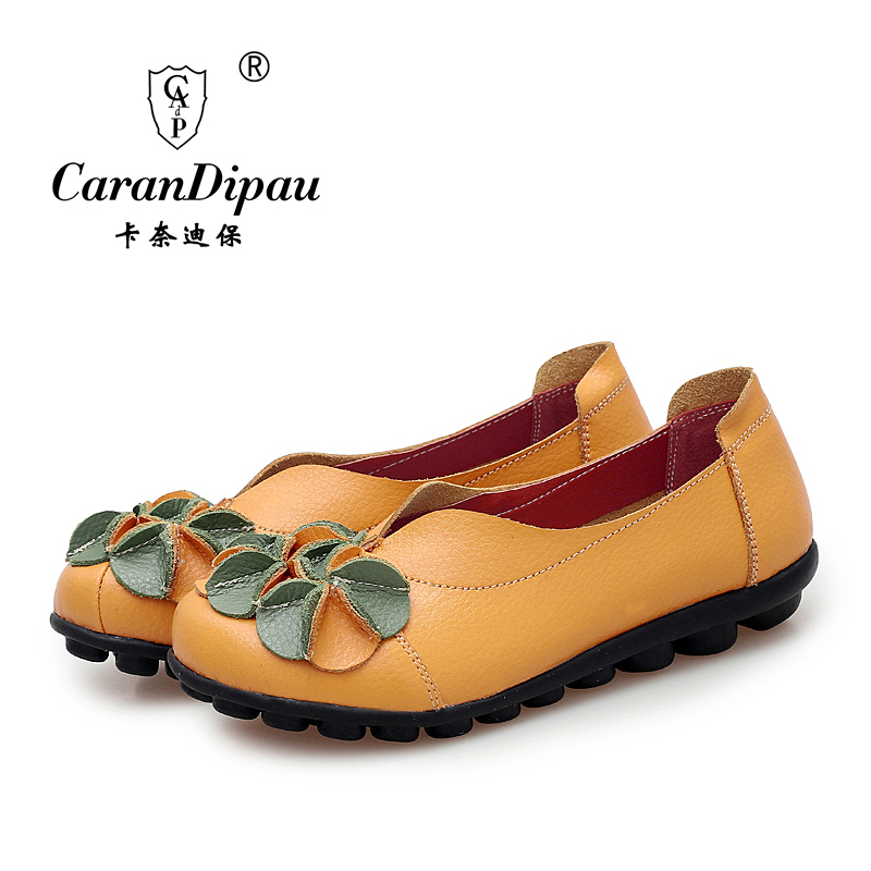 shoes for women 2016 Genuine Leather Women Shoes Flats Loafers Slip On sweet Women s Flat