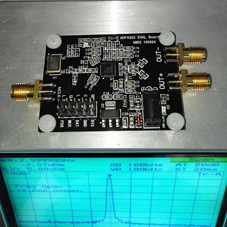 ADF4350 ADF43501 PLL RF Source de Signal synthétiseur de fréquence carte de développement onde sinusoïdale/CY7C68013A USB 2.0 analyseur de logique de carte