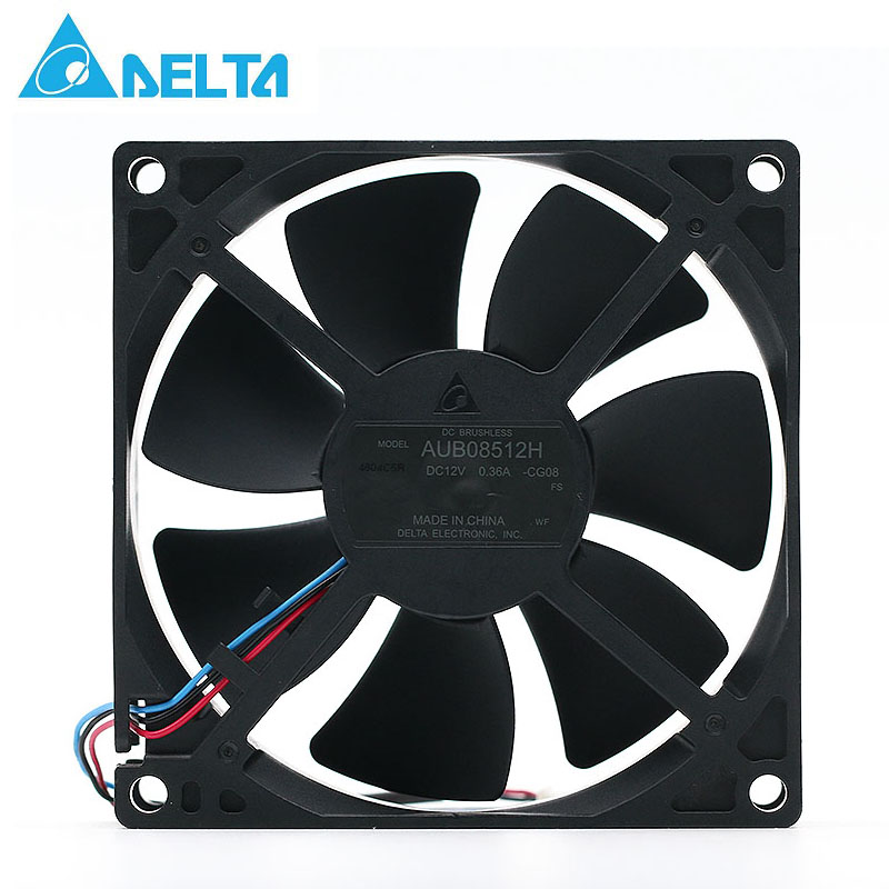 Original Delta AUB08512H 12V 0.36A 8.5cm three line projector cooling fan 8525 85*85*25mm 85mm new original bp31 00052a b6025l12d1 three wire projector fan
