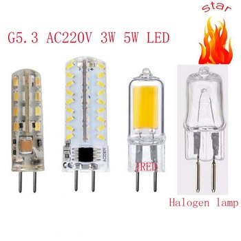 цена на gu5.3 220v 3014 32 72 smd led g5.3 220v crystal Light chandelier Spotlight bulb 220v gy6.35 led 220v g5.3 COB