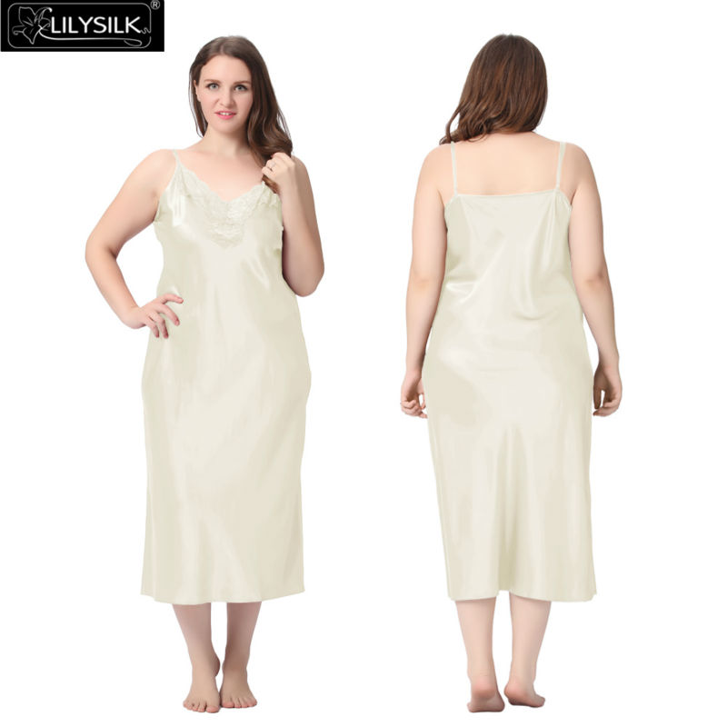1000-beige-22-momme-lacey-neckline-silk-nightgown-plus-size-01