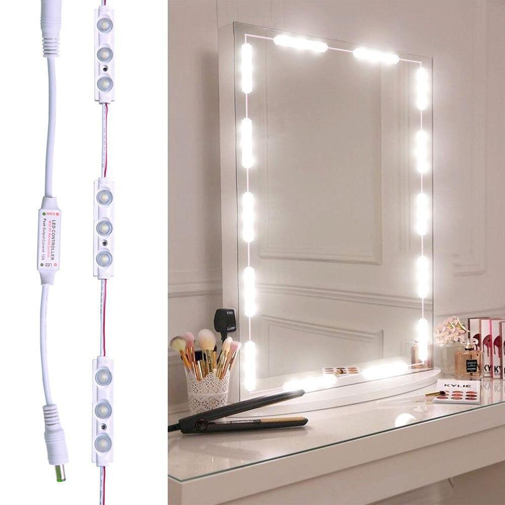 30 المصابيح مرآة لوضع مساحيق التجميل أضواء مرآة حمام مصباح الغرور ضوء سلسلة أطقم لمستحضرات التجميل ماكياج الغرور الجدول مقاوم للماء IP65