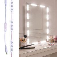 40LEDs Makeup Mirror Lights Bathroom Mirror Lamp Vanity Light String Kits for Cosmetic Makeup Vanity Table Waterproof IP65