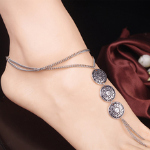 Bohemian Metal Anklet Vintage Ethnic Coin Charm Coin Ankle Bracelet Foot Jewelry Tornozeleira Femininas Anklets For Women BW586