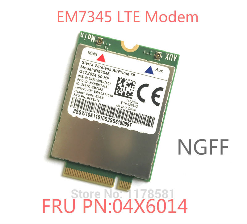 EM7345 FRU 04X6014 New&Original GOBI5000 4G Module NGFF Wwan Card For Thinkpad T440 W540 T440P T440s X240 X250