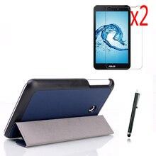 4in1 magnético ultra delgado case folio stand funda de cuero elegante de la cubierta + 2x pantalla films + stylus para asus memo pad 7 me70cx me70c k01a 7″