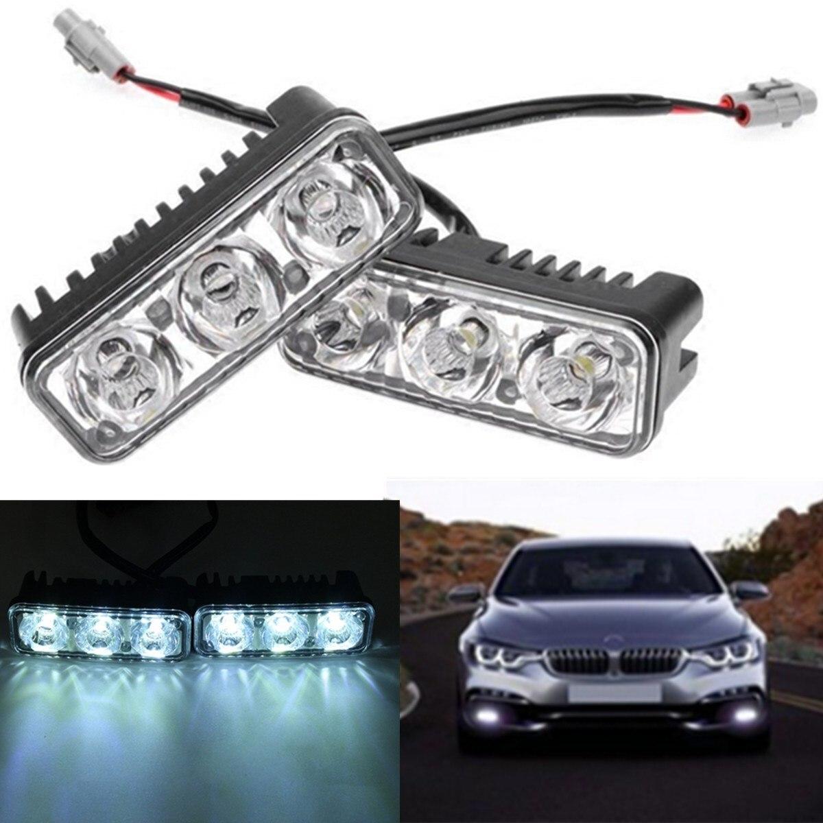 2x 16W 12V LED Daytime Running Light Car Light Bar Fog Lamp  For Car Indicator Motorcycle Driving Offroad Tractor Truck SUV ATV стоимость