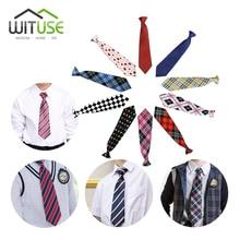 10 видов стилей, для школы, для мальчиков и девочек, для детей, для свадебной вечеринки, эластичный галстук, галстук, Lictar, в полоску, в клетку, с принтом, галстук для школьников