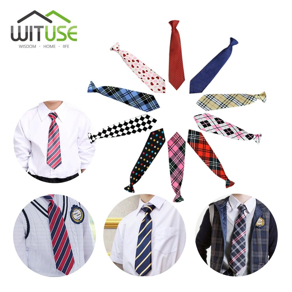 10 Styles School Boy Girl Kids Child Wedding Party Elastic Tie Necktie Lictar Stripe Plaid Print Neck Tie For School Boys