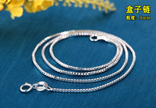 5pcs/lot Promotion wholesale 925 sterling silver necklace fashion jewelry Snake Chain Box Women Pendant Necklace