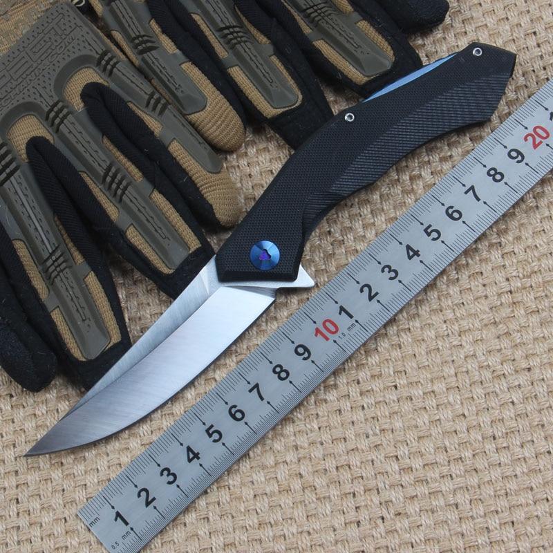 New font b Tactical b font Folding font b Knife b font D2 Blade G10 Handle