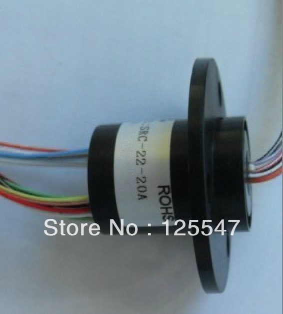 FREE Ship 22M 300RPM 20 Circuits 2A Capsule Slip Ring 20 Conductors rotary electrical collector ,electrical rotary joint