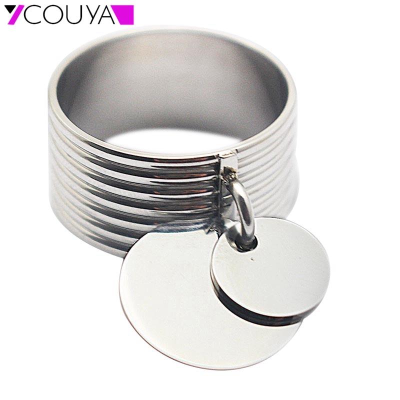 Nieuwe Mode Ringen Voor Vrouwen Schroefpatroon Ringen 316L Roestvrij Staal & Metaal Zilveren Ring Dames Sieraden K10026