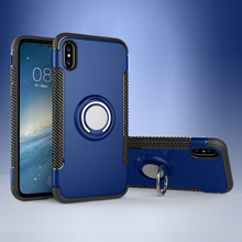 Phone Case For iPhone 8 Silicon 8 Plus Soft Fundas Capa Magnetic Ring Back Cover For iPhone X XR 7 6 6S XS Max Case Funda Coque
