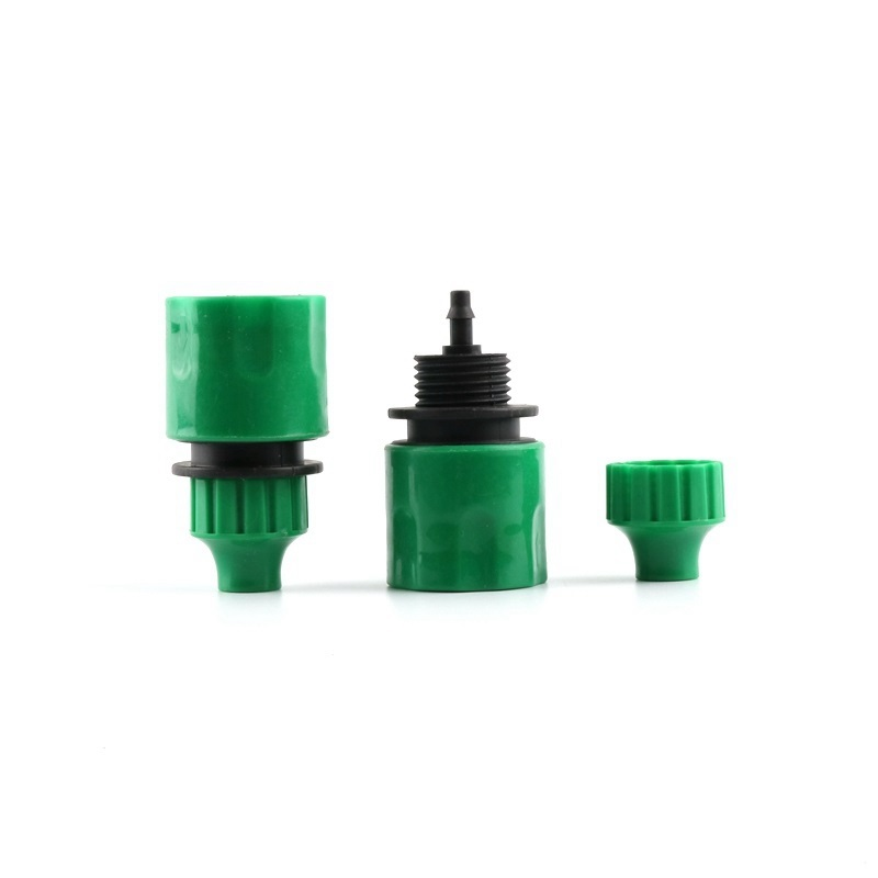 Купить с кэшбэком 4pcs UP-CLOUD 4/7mm Hose Garden Quick Connector Tap Adapter Garden Micro Drip Irrigation Watering Inner diameter 4mm Pipe Joint