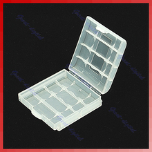 White Hard Plastic Case Holder Storage Box AA AAA Battery