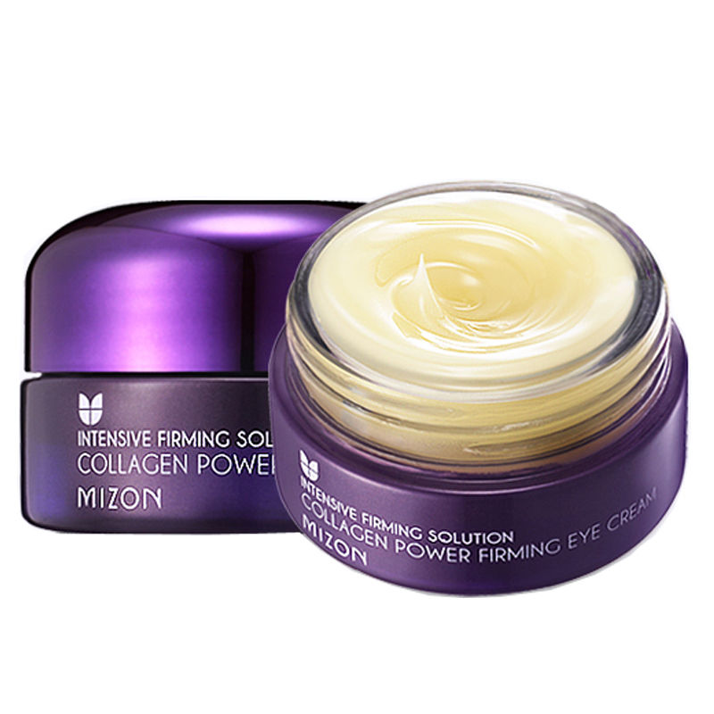 MIZON Collagen Power Firming Eye Cream 25ml Sleep Eye Mask Ageless Anti Puffiness Anti Wrinkle Aging Skin Care Korean Mask argireline matrixyl 3000 peptide cream hyaluronic acid ha wrinkle collagen firm anti aging skin care equipment free shipping