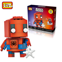 LOZ Spider-Man blocks ego nero legoe star wars duplo lepin brick minifigures ninjago guns duplo farm castle super heroes