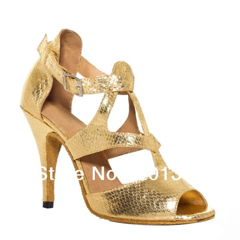 82a7a044e النساء خصم الذهب الثعبان طباعة أحذية الرقص اللاتينية قاعة رقص التانغو السالسا  34,35 ، 36,37 ، 38,39 ، 40,41