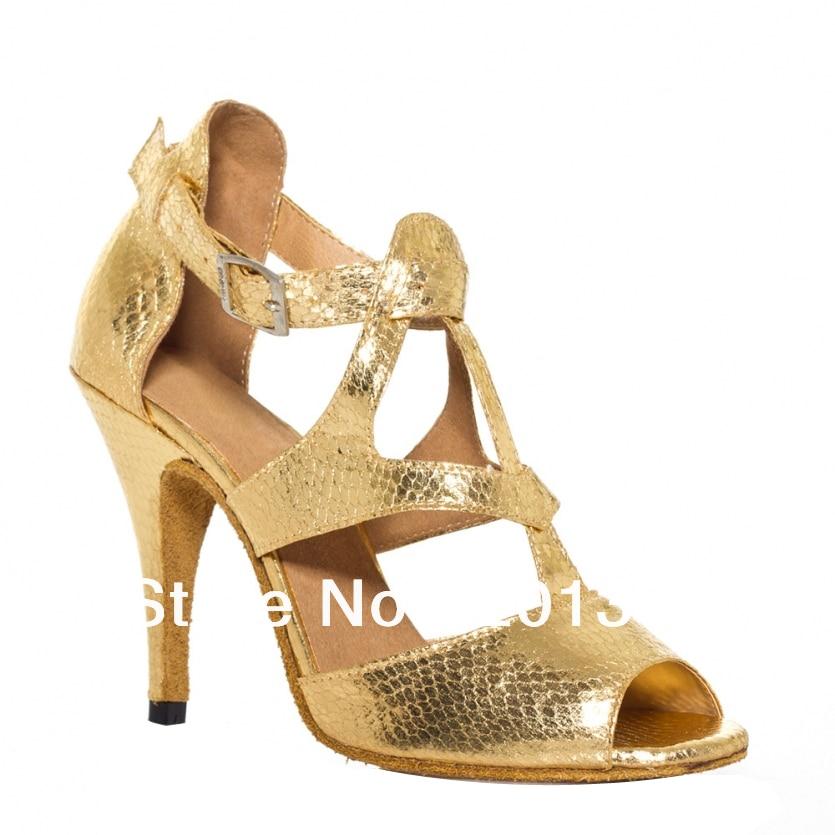 Női kedvezménnyel arany kígyóbőr nyomtatás tánc cipő latin bálterem cipő salsa tánc cipő tango cipő 34,35,36,37,38,39,40,41