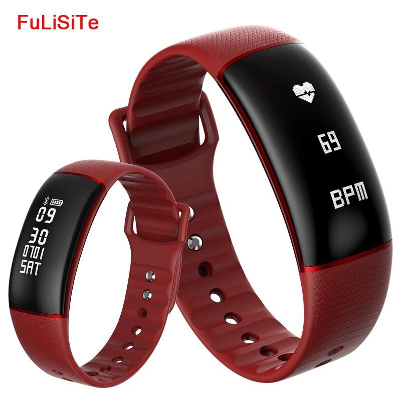 A69 Smart Bracelet Sang Pression Tactile Vibrant Alarme Horloge Bracelet Poignet Bande Montre Smart Watch Avec Haute Alarme de Fréquence Cardiaque Adulte
