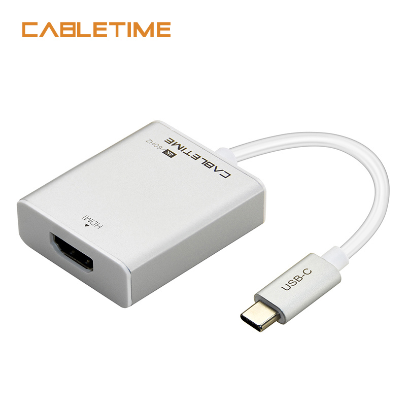 Cabletime USB C HDMI Adapter Type C 3.1 to HDMI 4K 60Hz Converter For Macbook HDTV Samsung Galaxy S9/S8 Note 9 Huawei N125 1 8m micro usb mhl to hdmi cable hdtv adapter converter for samsung galaxy s3 s4 s5 note3 note2 galaxy tab3 with mhl function
