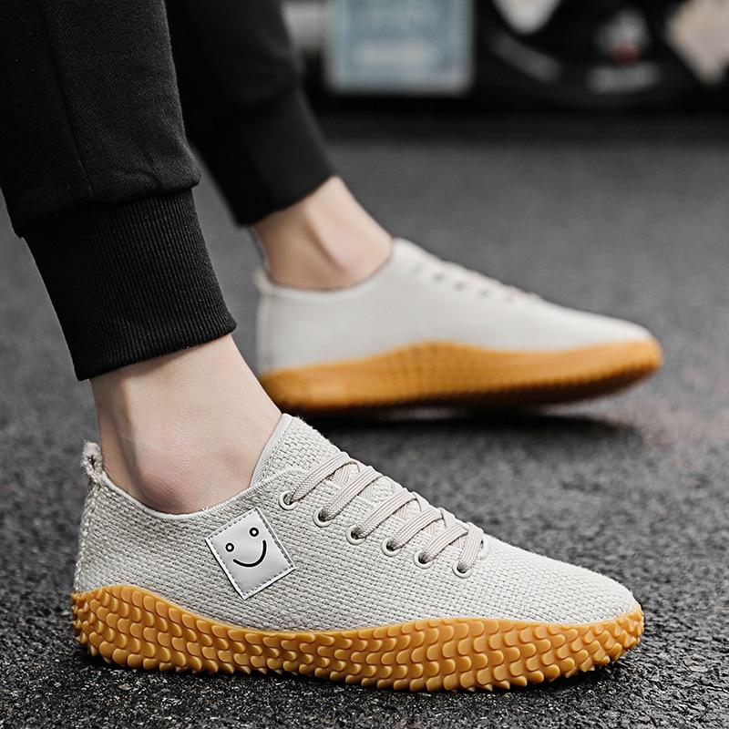 Sanft Tosjc Männer Turnschuhe Frühling Mode Leinwand Sneaker Atmungsaktive Vulkanisierte Schuhe Gelb Unten Schuhe Atmungsaktiv Mit Einem LangjäHrigen Ruf Vulkanisierte Herrenschuhe