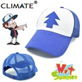 CLIMATE 2017 New Spring Summer Adult Kids Gravity Falls Mabel Dipper Pines Cool Cosplay Caps Baseball Mesh Trucker Caps Hat