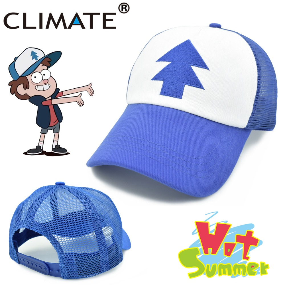 CLIMATE 2017 New Spring Summer Adult Kids Gravity Mabel Dipper Pines Bill  Cool Cosplay Caps Baseball 50ea2c22250d