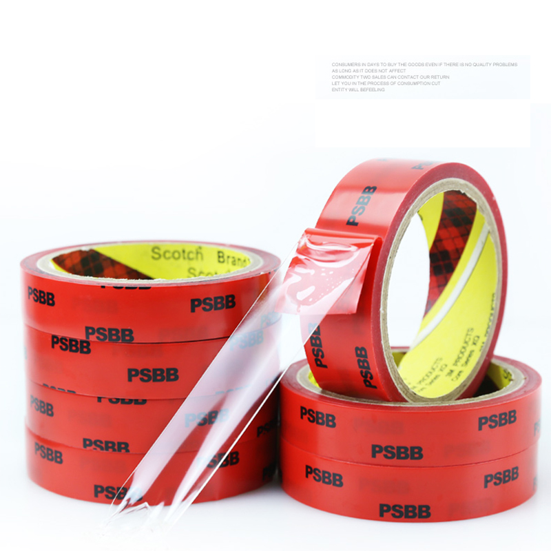 3M auto accessories acrylic double sided adhesive strong seamless super transparent tape for car stickers home car paste in Interior Mouldings from Automobiles Motorcycles