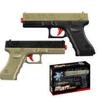 2 Teile/satz Wasser Kugel Glock Pistole Spielzeug Für Jungen Pistole Manuelle Freien Waffe Schießen Guns Spiel Spielzeug Kinder Kinder Geschenke zufällige Farbe