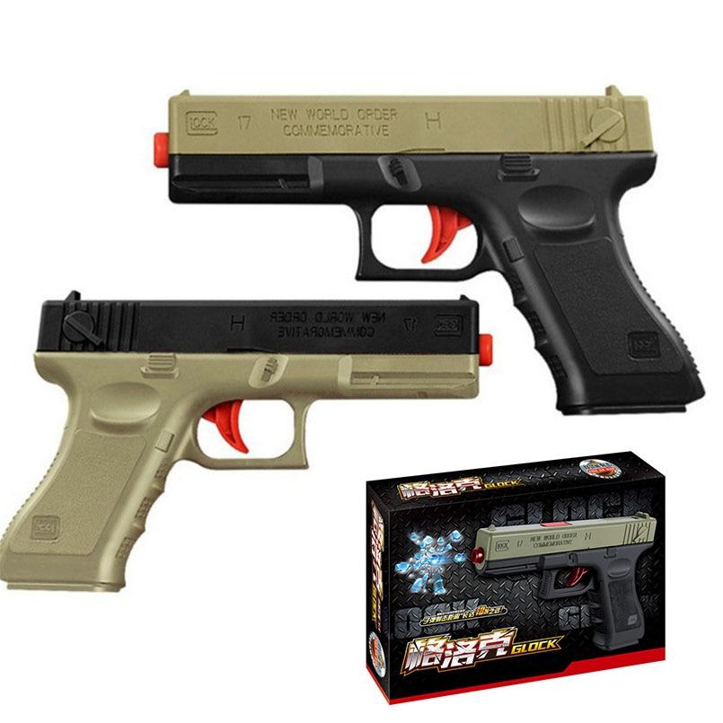 2PCS/set Water Bullet Glock Gun Toy For Boys Pistol Manual Outdoors Weapon Shoot Guns Game Toys Children Kids Gifts Random Color