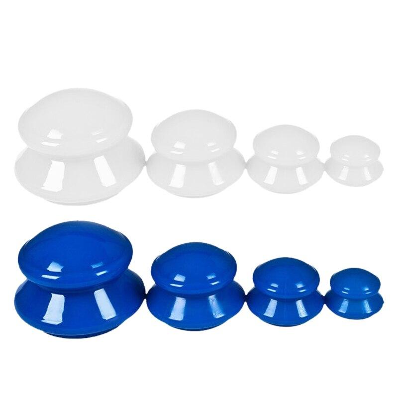 1 Set/4 Pcs Feuchtigkeit Absorber Anti Cellulite Vakuum Cuppings Silikon Familie Gesichts Körper Massage Therapie Cuppings Tasse Set 4 größe