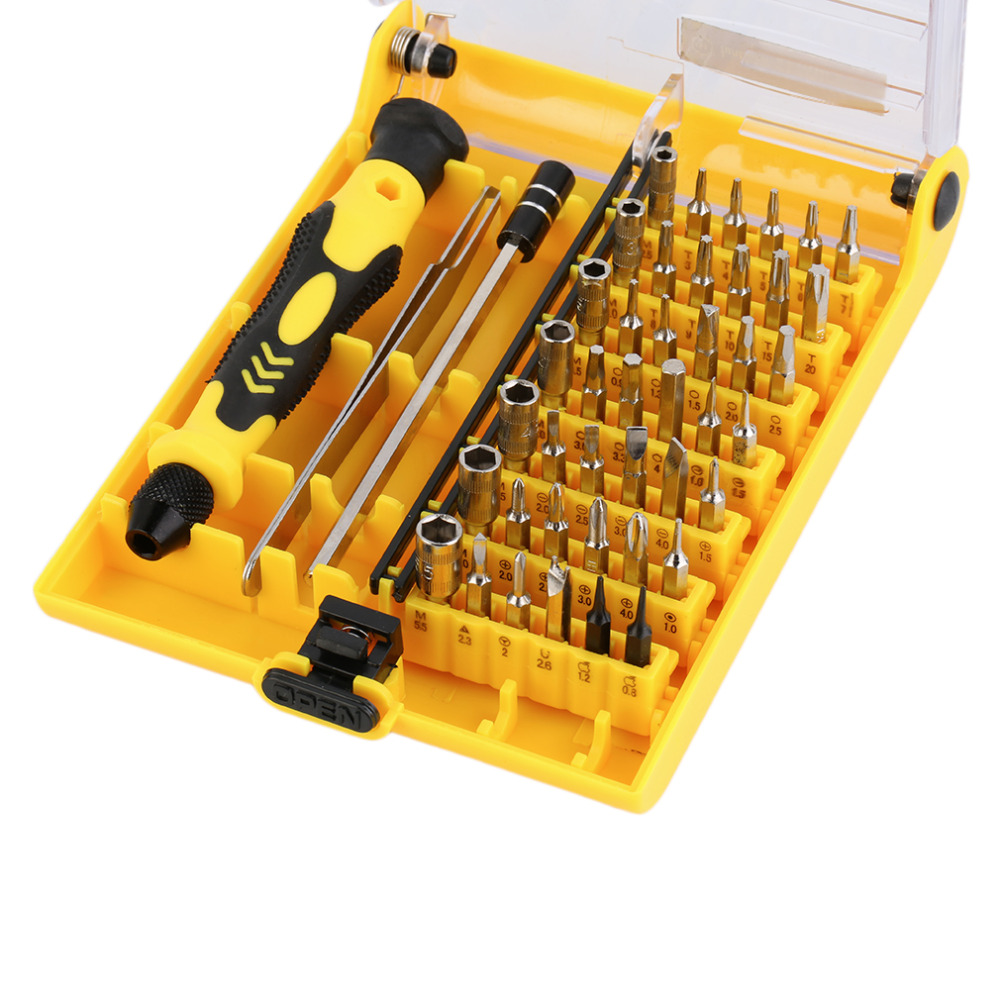 BDCAT Precision Screwdriver Set 45 In 1 Screw Driver Tool Kit Torx For Mobile Phone Repair Tools Laptop repair multi drill bits