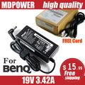 MDPOWER For BENQ 19V 3.42A 65W Laptop AC adapter charger cord