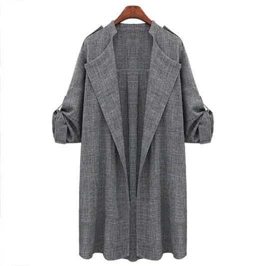 HTB1KOOcqiAnBKNjSZFvq6yTKXXaq New Fashion Autumn Spring Women Jackets Open Front Coat Long Cloak Jackets Overcoat Waterfall Cardigan Female Blusas