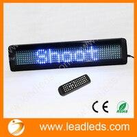 LED הכחול 12 v שלט רחוק תקשורת טורית RS232 סימן גלילת מכונית הודעה led נע סימן