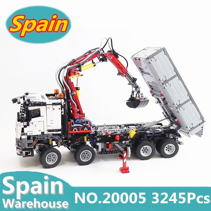 Lepinblocks الملك الطوب 20005 تكنيك نماذج من الشاحنات 3245 قطعة اللبنات مجموعة 42043 التقنية لعب للأطفال هدية مع موتور-في حواجز من الألعاب والهوايات على  مجموعة 1