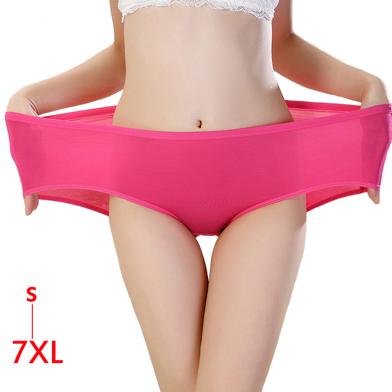 5XL <font><b>6XL</b></font> 7XL Cotton Panties Women Underwear Briefs Plus Size Panties Seamless Solid Calcinhas Girls <font><b>Sexy</b></font> Lingeries Panty Ladies image