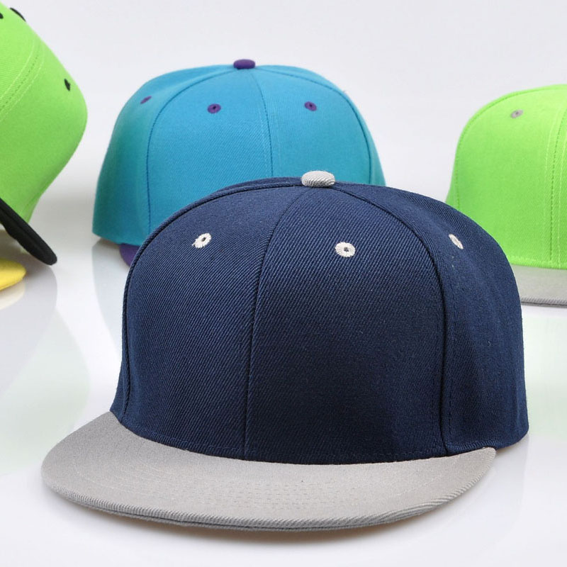 Full Close Hip Hop Cap Blank Whole Closure Women Men's Leisure Flat Brim Bill Hip Hop Baseball Cap Fitted Snapback Hat